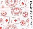 Seamless casino pattern - stock photo
