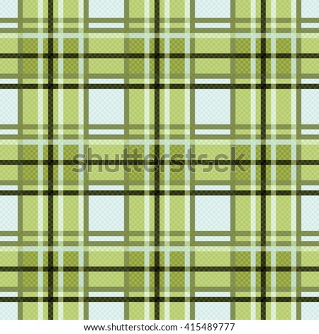 Seamless checkered vector colorful pattern mainly in green light blue colors