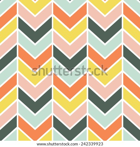Seamless Cheerful Chevron Pattern