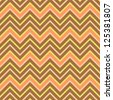 Seamless chevron pattern in retro style, soft colors. Can be used to fabric design, wallpaper, decorative paper, scrapbook albums, web design, etc. Swatches of seamless pattern included in file - stock vector