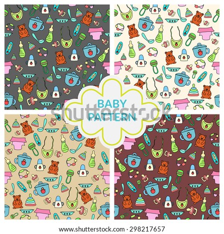 Seamless children pattern. Baby patterns.