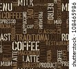 Seamless coffee experience pattern. Vector, EPS8. - stock vector