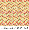 Seamless color vector abstract zigzag pattern - stock vector