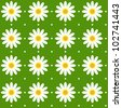 Seamless daisy pattern background texture - stock vector