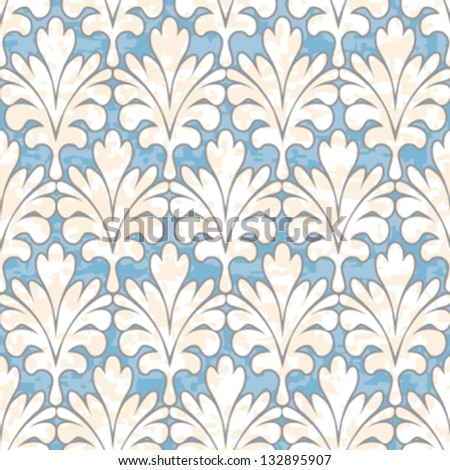 Seamless Damask Ornament Background Pattern