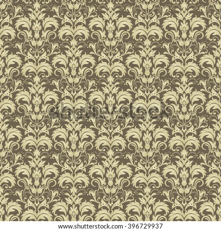Seamless damask pattern  Endless pattern can be used for ceramic tile   wallpaper  linoleum. Floral Pattern Wallpaper Baroque Damask Seamless Stock Vector