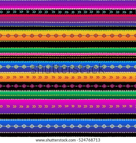 Seamless Ethnic Mexican Fabric Pattern Colorful Stock ... Mexican Blanket Texture