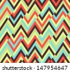 Seamless ethnic zigzag pattern - stock vector