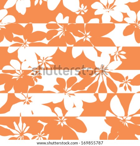 Seamless Five Finger Leaf Pattern Background