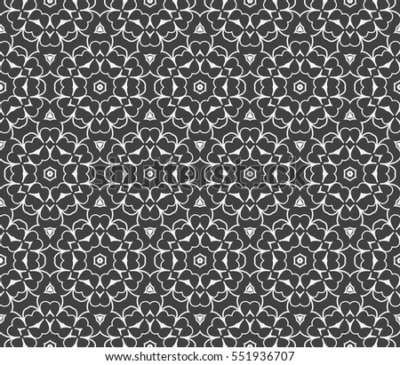 seamless floral geometric pattern. Texture for holiday cards, Valentines day, wedding invitations, design wallpaper. Vector illustration.