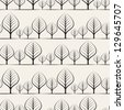 Seamless floral pattern. Stylish repeating texture. Repeating texture with stylized trees - stock vector