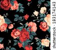 seamless floral pattern with of ...