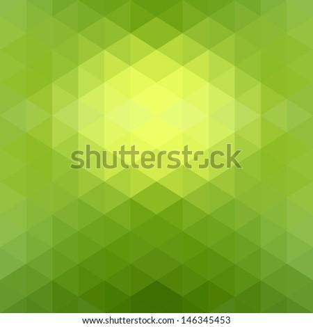 Green Grid Mosaic Background Creative Design Stock Vector