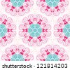 seamless hand drawn floral pattern background - stock photo