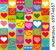 seamless heart pattern - stock vector