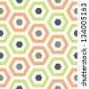 Seamless Hexagon Background Pattern - stock vector