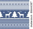 Seamless knitted ornamental pattern traditional christmas motifs - stock
