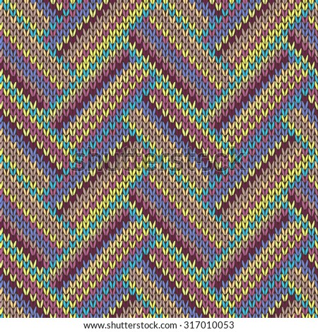 Knitting Seamless Variegated Pattern Fabric Texture Stock Illustration 714935...