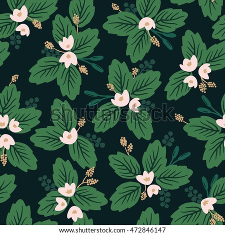 Seamless Lotus pattern, vector illustration