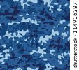 Seamless modern navy camouflage pattern - stock vector