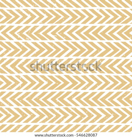 Seamless monochrome hand-drawn pattern in gold. Abstract vector background with grunge effect. EPS10.