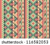 Seamless navajo pattern #1 - stock vector