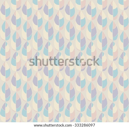 Seamless neutral colored pattern from abstract drops in pastel colors. Vector eps 10.