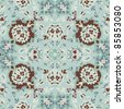 Seamless  paisley or oriental rug vector geometric pattern, background, wallpaper - stock vector