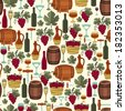 Seamless pattern for wine, wineries and restaurants. - stock