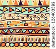 Seamless pattern in the Mexican style - stock vector