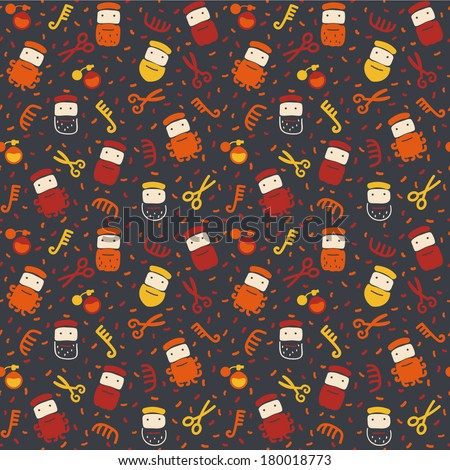 Seamless pattern in vector - The beards Seamless pattern can be used for pattern fills, wallpapers, web page backgrounds.
