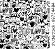 Seamless pattern - love - stock vector