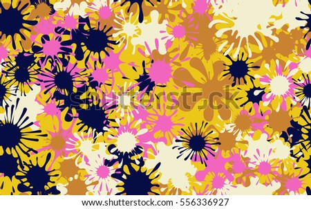 Seamless pattern of colored spots and blotches. Camouflage.
