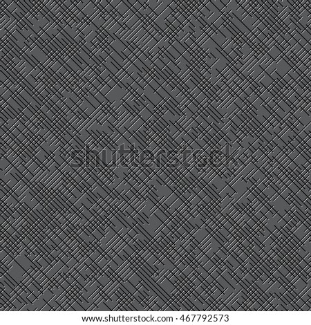 Seamless pattern of dashes. Art abstract stroke textured background. Vector.