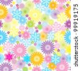 Seamless pattern of flower - stock vector