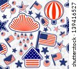 Seamless pattern of Independence Day USA - stock vector