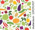seamless pattern on a white background , vegetables illustrations  - stock vector