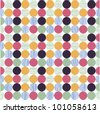 seamless pattern, polka dot fabric, wallpaper - stock photo