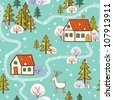 Seamless Pattern. seamless Christmas pattern .seamless pattern with New Year's.Winter. - stock vector