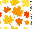Seamless pattern with autumn maple leaves. Vector EPS 8. - stock vector
