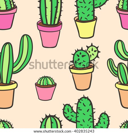 Set planets solar system cartoon style flat icon stock vector image - Set Six Illustrations Cute Cartoon Cactus Stock Vector