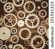 seamless pattern with cogs and gears - vector illustration - stock photo