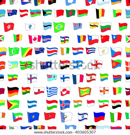 seamless pattern with country flags
