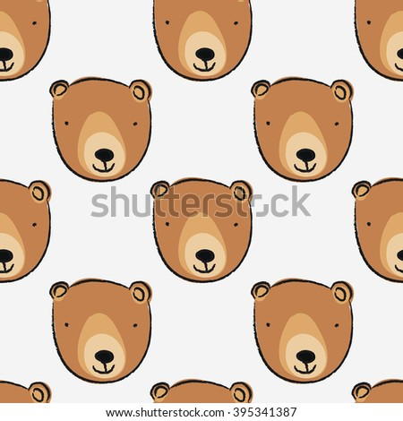 seamless pattern with cute bear