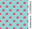 Seamless pattern with cute flowers. Seamless pattern can be used for wallpaper, pattern fills, web page background, surface textures. - stock vector