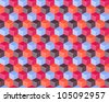 Seamless Pattern with 3d colorful cubes. Vector Illustration - stock vector