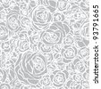 Seamless pattern with flowers roses, vector floral illustration in vintage style - stock