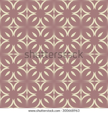 Seamless pattern with geometric swirls in the Oriental style.