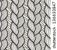 Seamless pattern with hand drawn braids. Endless stylish texture - stock vector