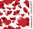 Seamless Pattern with Hearts and Chessboard. For Valentines Cards, Textile, Fabric, etc - stock photo